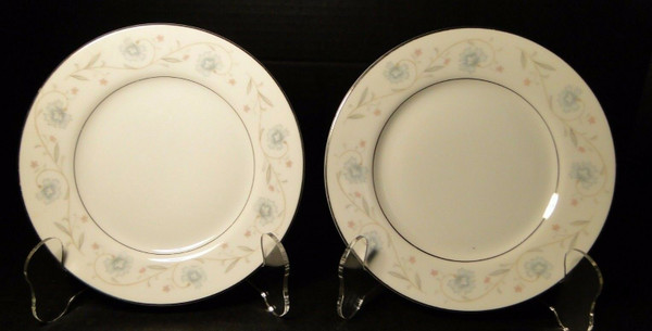 """Fine China of Japan English Garden 1221 Bread Plates 6 1/4"""" Set of 2 