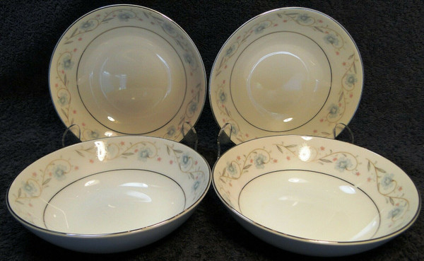 """Fine China of Japan English Garden Berry Bowls 5 1/2"""" Fruit Dessert Set 4   DR Vintage Dinnerware and Replacements"""