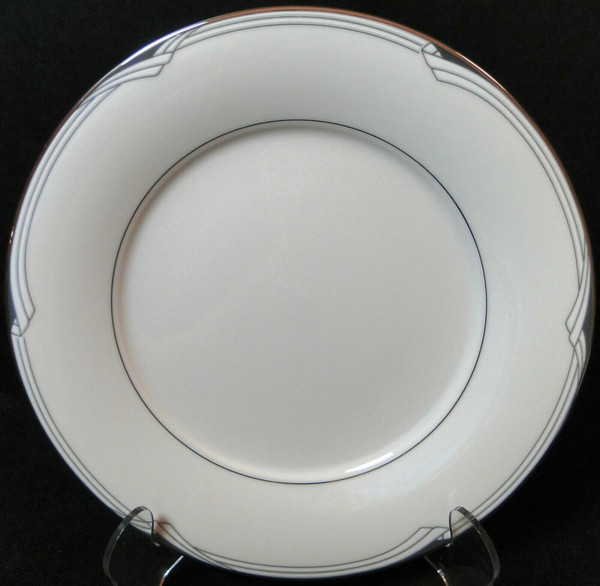 """Noritake Sterling Cove Salad Plate 8 1/4"""" 7720 Silver Trim 