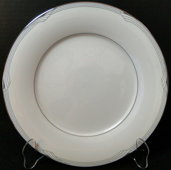 "Noritake Sterling Cove Dinner Plate 10 5/8"" 7720 Silver Trim 