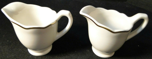 Syracuse Gourmet Creamers Vintage Restaurant Ware Set of 2 | DR Vintage Dinnerware and Replacements