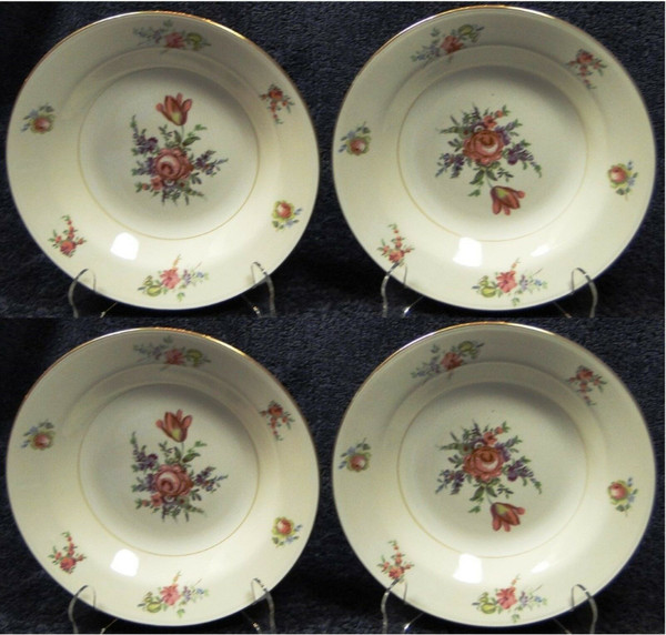 """Household Institute Priscilla Soup Bowls Nautilus 8 1/2"""" Set of 4 