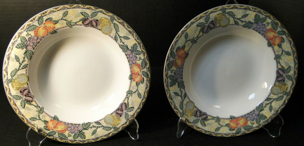 """Mikasa Ultima Plus Chelsea Court Soup Bowls 9 1/2"""" HK704 Set of 2 