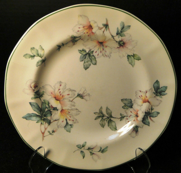 """Adams Azalea Salad Plate 8 1/4"""" English Stoneware Green 