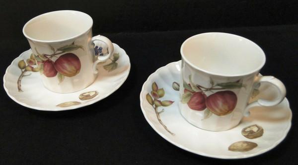 Mikasa Belle Terre Tea Cup Mug Saucer Sets CAJ05 Maxima Fruit 2 | DR Vintage Dinnerware and Replacements