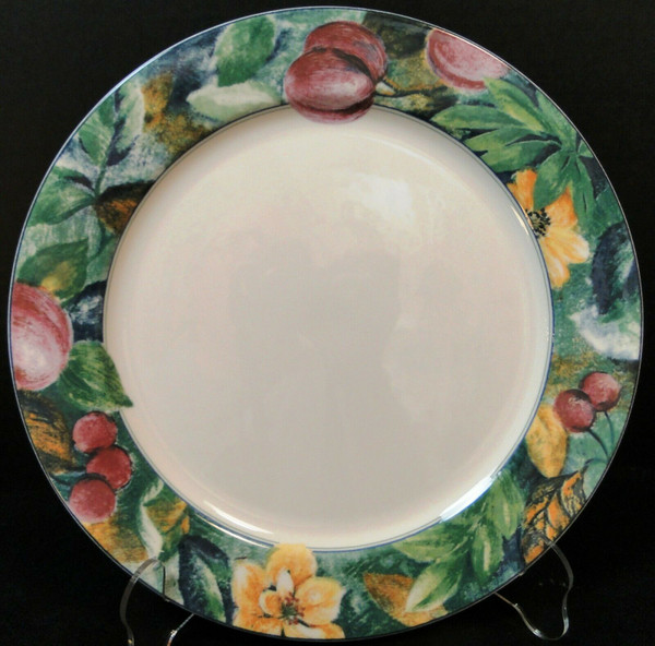 """Mikasa Ultima Plus Fruit Collage Dinner Plate 10 3/4"""" HK 107 