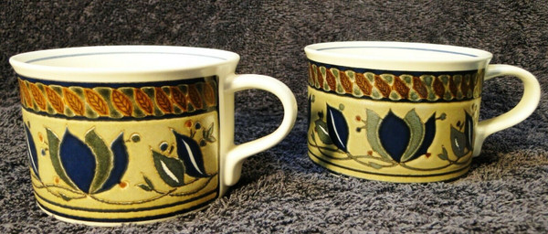 Mikasa Intaglio Arabella Cups Coffee Mugs CAC01 Set of 2 | DR Vintage Dinnerware and Replacements