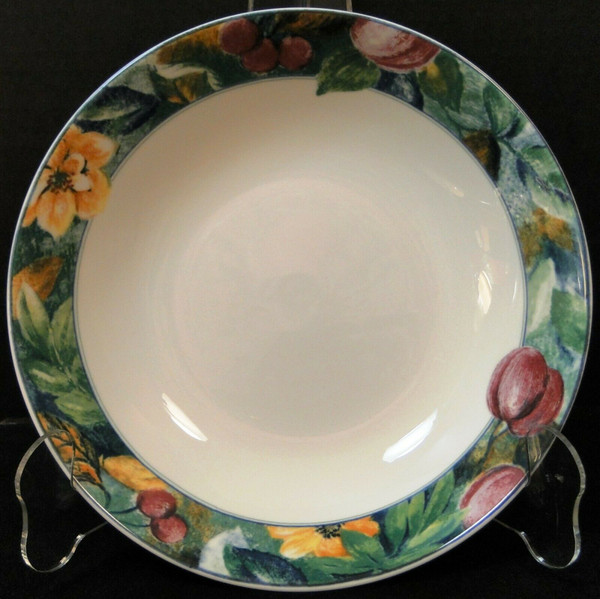 """Mikasa Ultima Plus Fruit Collage Coupe Soup Bowl 8 1/4"""" HK 107 