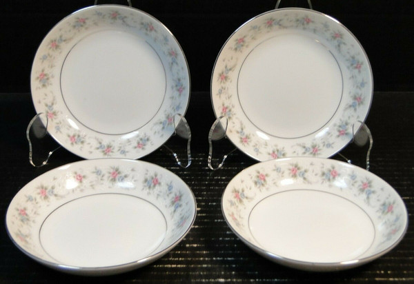 """Fine China of Japan Corsage Berry Bowls 5 5/8"""" 3142 Fruit Set of 4 