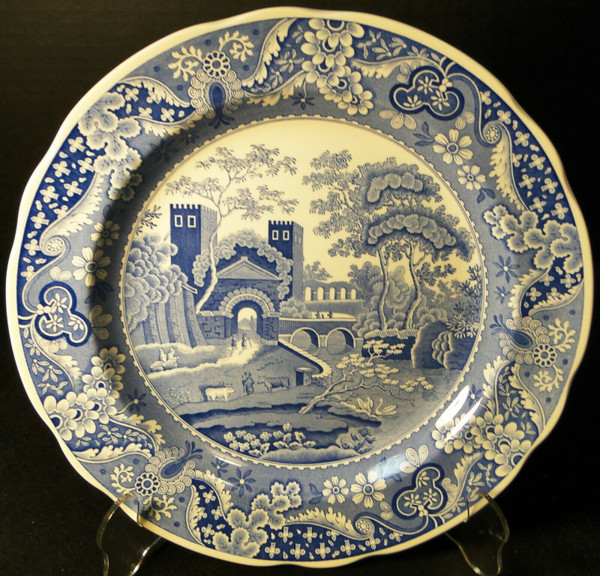 "Spode Blue Room Collection Dinner Plate 10 3/8"" Castle 