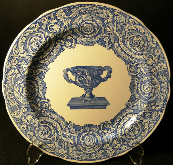 """Spode Blue Room Collection Dinner Plate 10 3/8"""" Warwick Vase 