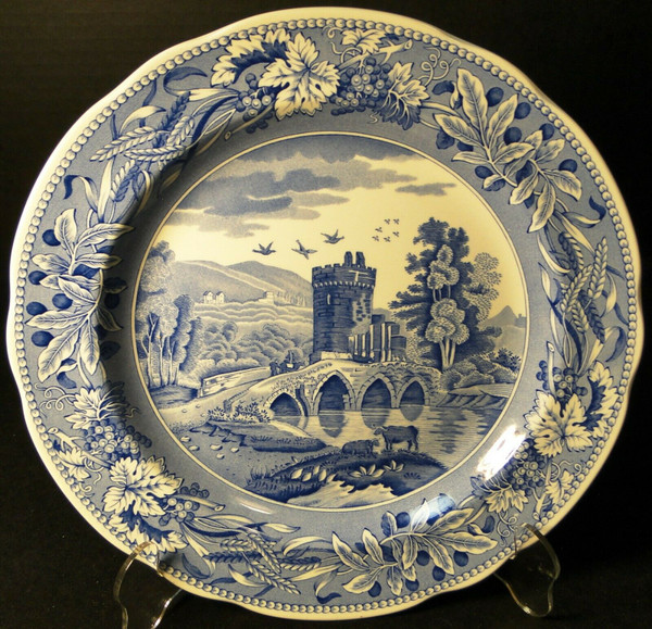 """Spode Blue Room Collection Dinner Plate 10 3/8"""" Lucano 