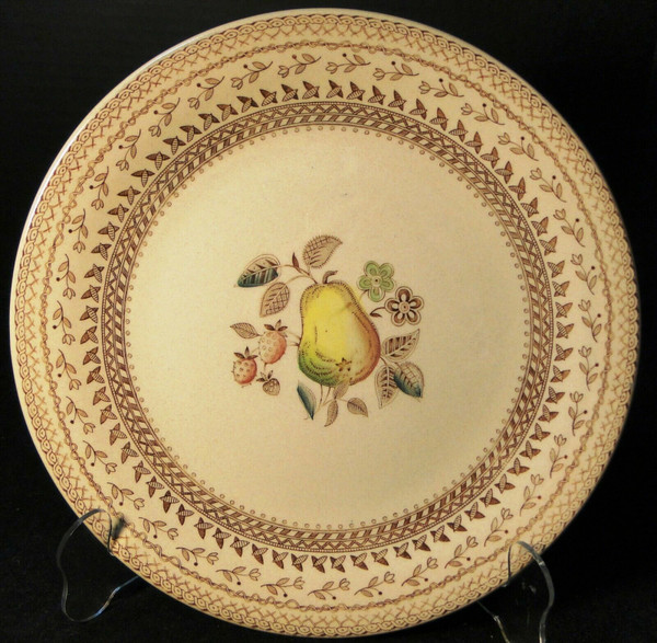 "Johnson Brothers Fruit Sampler Dinner Plate 10 1/8"" Old Granite 