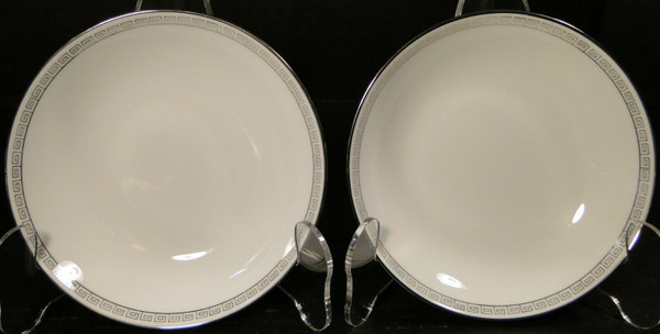 Noritake Silver Key Berry Bowls 5941 Fruit Dessert Set of 2 | DR Vintage Dinnerware and Replacements