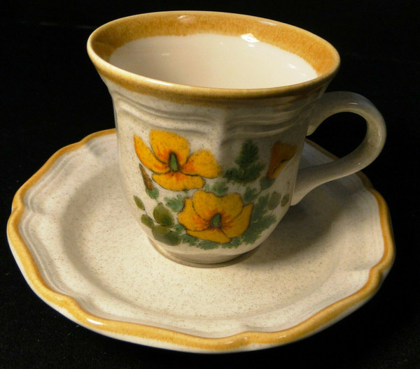 Mikasa Petunias Tea cup Saucer Set EC 401 Garden Club | DR Vintage Dinnerware and Replacements