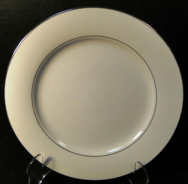"Noritake Envoy Salad Plate 8 1/4"" 6325 White Platinum Trim   DR Vintage Dinnerware and Replacements"