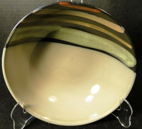 "Sango Avanti Black Soup Bowl 8"" 4721 Salad | DR Vintage Dinnerware and Replacements"