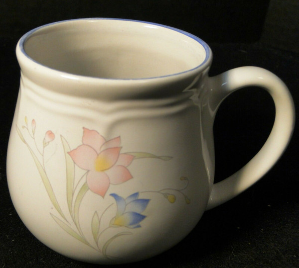 French Garden Coffee Mug Cup Genuine Stoneware Thailand | DR Vintage Dinnerware and Replacements