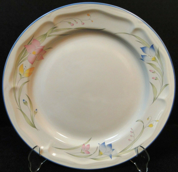 """French Garden Dinner Plate 10 5/8"""" Genuine Stoneware Thailand 