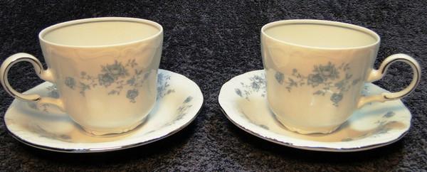 Johann Haviland Bavaria Blue Garland Tea Cup Mug Saucer Sets 2 | DR Vintage Dinnerware Replacements