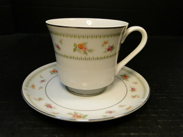 Abingdon China Tea Cup Saucer Set Fine Porcelain Japan | DR Vintage Dinnerware and Replacements