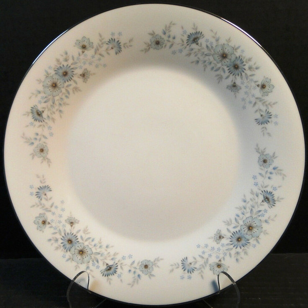 """Noritake Inverness Dinner Plate 10 1/3"""" 6716 Blue Floral   DR Vintage Dinnerware and Replacements"""