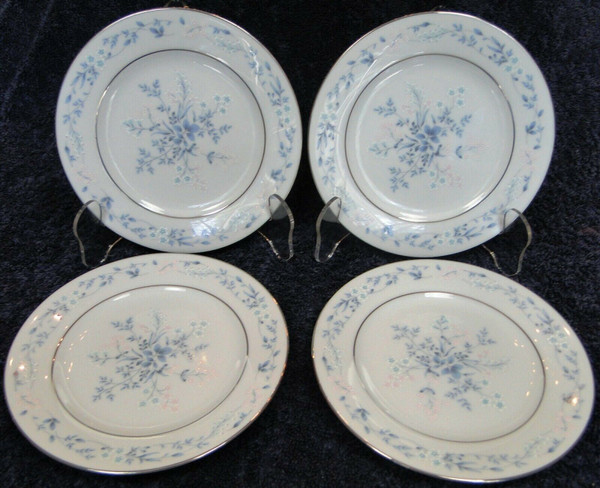 """Noritake Carolyn Bread Plates 6 1/4"""" 2693 Contemporary Blue Set of 4 
