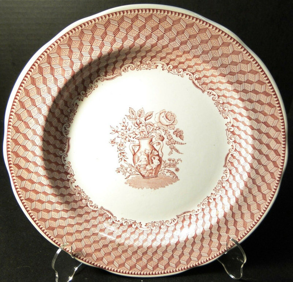 """Spode Archive Collection Portland Vase Dinner Plate 10 3/8"""" Cranberry 