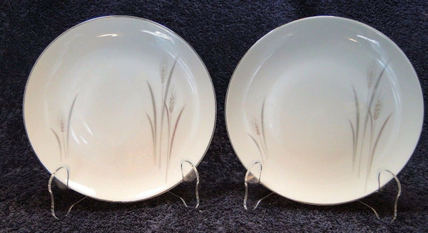 """Fine China of Japan Platinum Wheat Bread Plates 6 3/8"""" (Set of 2) 