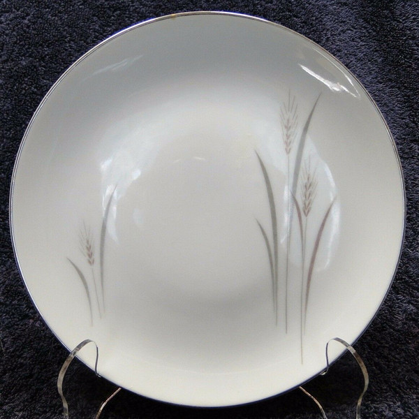 """Fine China of Japan Platinum Wheat Bread Plate 6 3/8"""" 