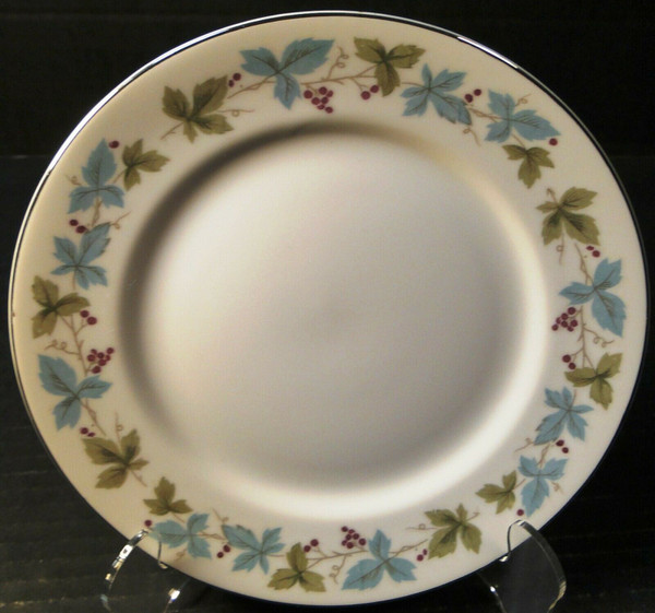 "Fine China of Japan Vintage Salad Plate 7 3/4"" 6701 Ivy Green Leaves 