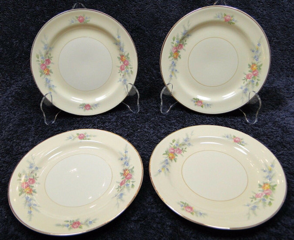 "Homer Laughlin Eggshell Nautilus Ferndale Bread Plates 6 1/8"" Set 4 