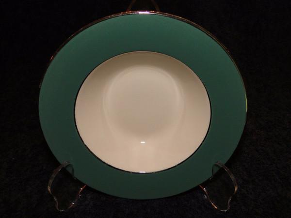 "Homer Laughlin Lexington Berry Bowl 6"" Cavalier Platinum Trim | DR Vintage Dinnerware and Replacements"