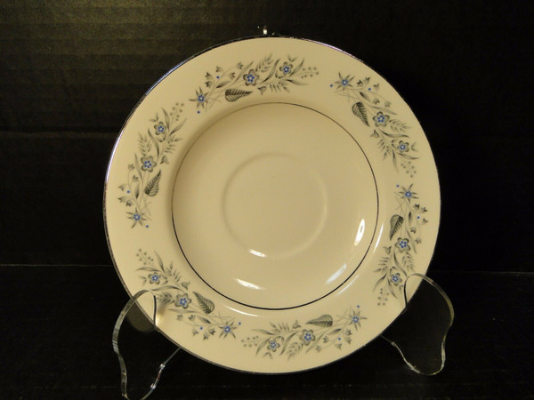 """Homer Laughlin Cavalier CV125 Saucer 6"""" White Floral 