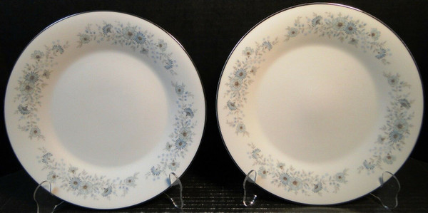 """Noritake Inverness Dinner Plates 10 1/2"""" 6716 Set of 2   DR Vintage Dinnerware and Replacements"""