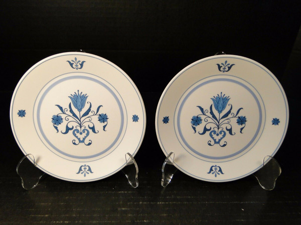 "Noritake Blue Haven Bread Plates 9004 6 1/4"" Progression Set of 2 
