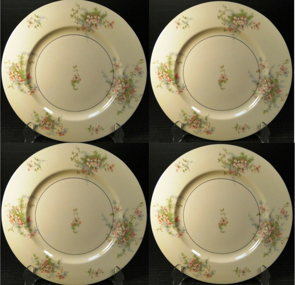 """Theodore Haviland NY Apple Blossom Dinner Plates 10 1/8"""" Set of 4 