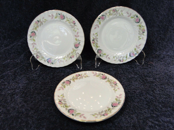 Creative Regency Rose Bread Plates 2345 Set of 4 | DR Vintage Dinnerware and Replacements
