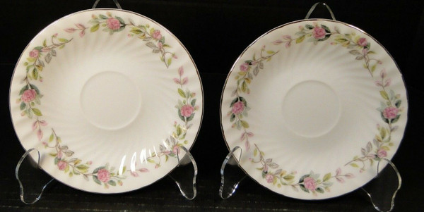 Creative Regency Rose 2345 Saucers Set of 2 | DR Vintage Dinnerware and Replacements