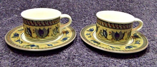 Mikasa Intaglio Arabella Cup and Saucer Sets CAC01 | DR Vintage Dinnerware Replacements