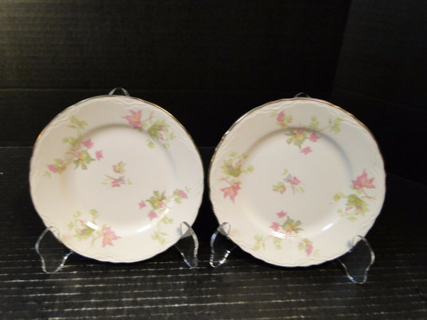 Homer Laughlin Maple Leaf Bread Plates 6 1/4 Republic R9524 Set of 2 | DR Vintage Dinnerware Replacements