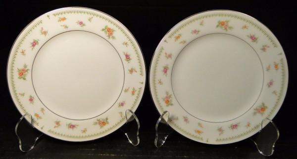 "Abingdon China Japan Bread Plates 6 1/2"" Fine Porcelain Set of 2 | DR Vintage Dinnerware Replacements"