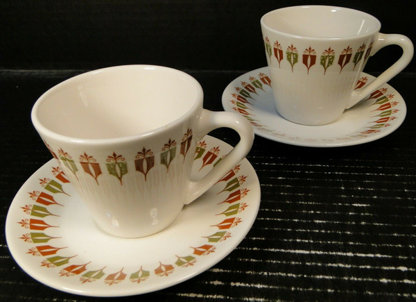 Syracuse Captain's Table Cup Saucer Sets Syralite Restaurant Ware 2 | DR Vintage Dinnerware Replacements