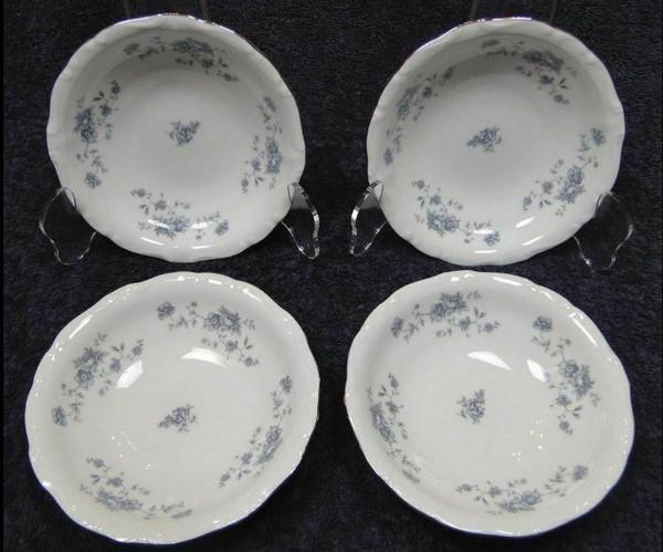 Johann Haviland Bavaria Blue Garland Berry Bowls Dessert Fruit Set 4 | DR Vintage Dinnerware Replacements