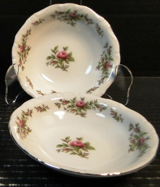 """Johann Haviland Traditions Moss Rose Berry Bowls 5"""" Fruit Set of 2 
