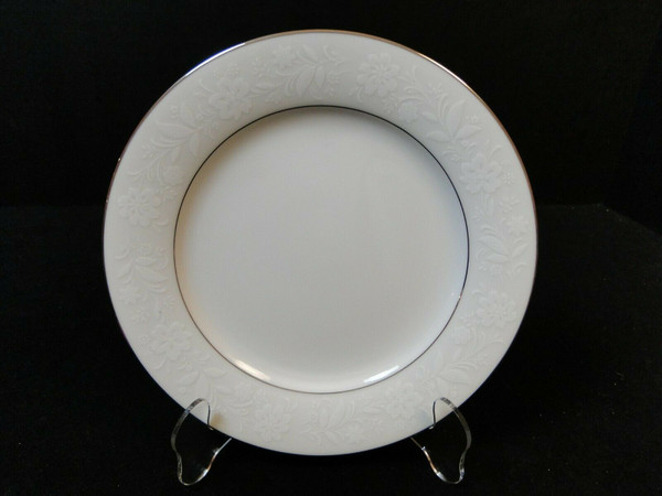 """Noritake Ranier Salad Plate 8 1/4"""" 6909 White on White 