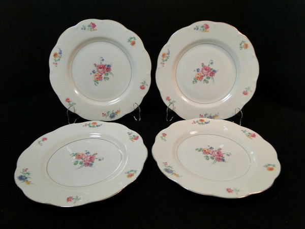 """Theodore Haviland NY Chapelle Dinner Plates 10 1/4""""  Set of 4 