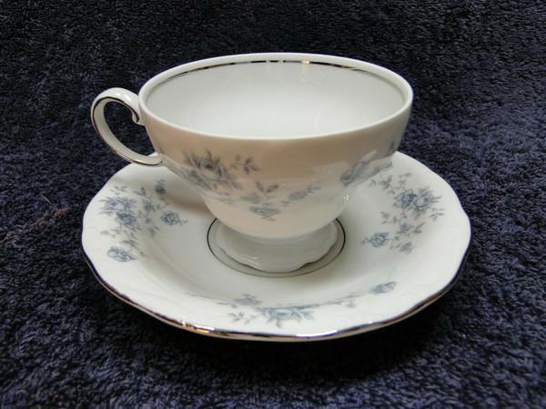 Johann Haviland Bavaria Blue Garland Footed Tea Cup Saucer Set | DR Vintage Dinnerware Replacements