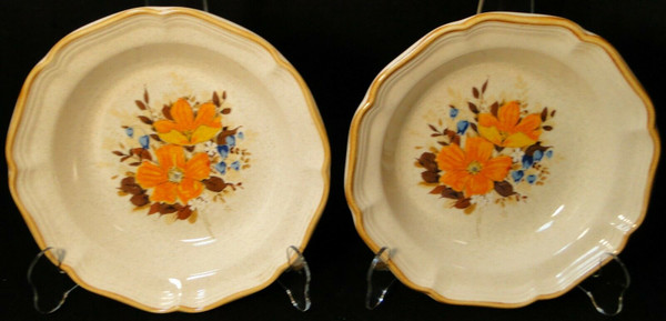 "Mikasa Flower Fest Soup Bowls 8 3/4"" EC 452 Garden Club Set of 2 | DR Vintage Dinnerware and Replacements"