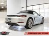 AWE Track Edition Exhaust for Porsche 718 (17-19) Boxster / Cayman - Diamond Black Tips